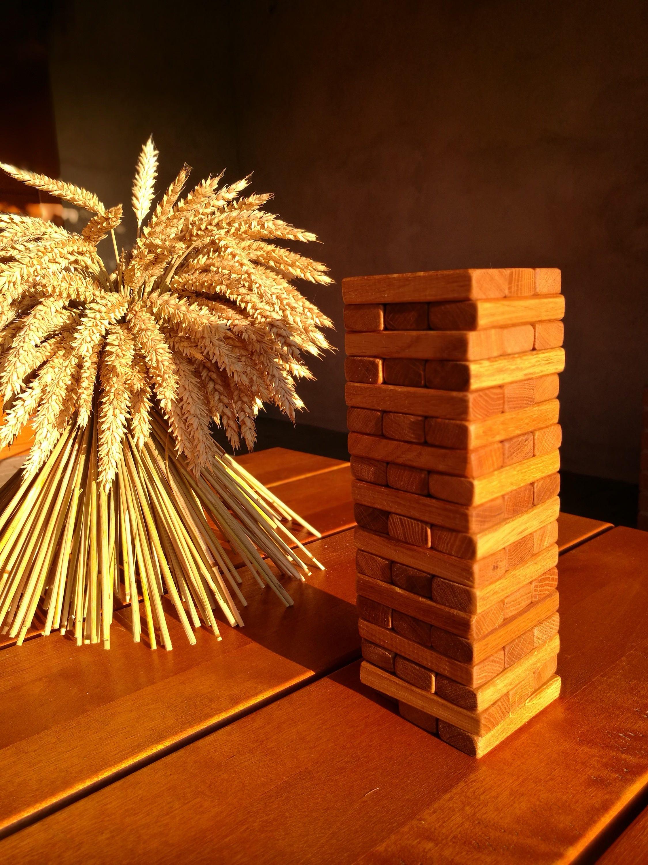wooden jenga game lawn jenga personalized jenga set outdoor
