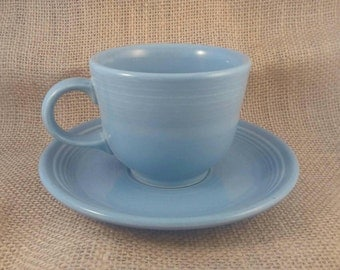 Fiesta Periwinkle Cup and Saucer by Homer Laughlin