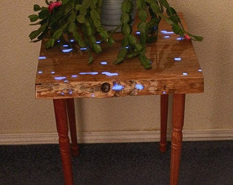 Entry way Table, Night stand, Nightstand, Glow in the Dark, Plant Stand, Hall Table, new apartment, new house, bed side table