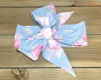 Matching Headbands- Chambray Headband; Flower Headwrap; Headwrap; Flower Headband; Flower Bow; Baby Headband; Baby Headwrap; Todder Headband