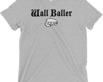 Wall Baller (20lb), Men's Workout Shirt, Crossfit, Funny Workout Shirt, Workout Gifts For Him, Gym Shirt, Fitness Gifts, Gym Shirt