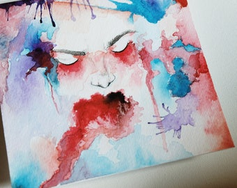 Holding On - Original Watercolor Painting