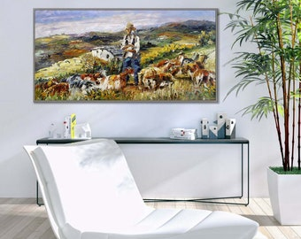 "France Provence Landscape 24x48"" /60x120cm Oil Painting"