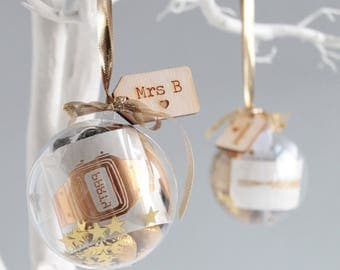 Personalised Christmas Bauble Stocking Filler Gift