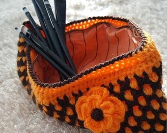 Purse Pouch Make-Up Bag Portmonee Crochet Handmade