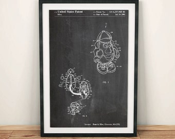 Mr. Potato Head Toy Patent Art Poster