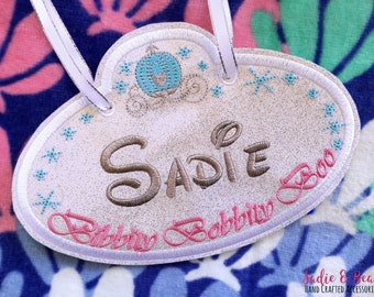 Princess Stroller Tag, Stroller Tags, Stroller tag, Baggage Tags, cinderella, Stroller accessories, bike tags, princess tags, scooter
