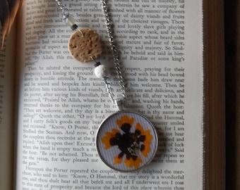 Oregon Grown Pressed Wildflower- Resin Pendant Bohemian Style Handmade Necklace