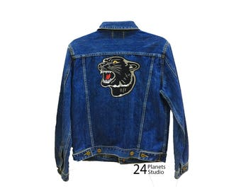 Large Panther Large Iron on Patch by 24PlanetsStudio Jacket Patch