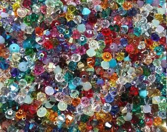 4mm Swarovski Crystal Bicones Mixed Lot 150 per order