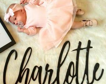 Custom Wood Name Sign Nursery Baby Name Crib Sign Last Name Wedding Sign Wood Home Decor