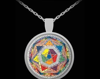 Esoteric necklace - Sigillum Dei Aemeth by John Dee pendant - occult gift
