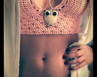 Crochet Crop Top **FREE shiping to Germany **Handmade **Bikini **Summer top **Festival **Bohemian stile