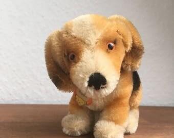 All ID! Vintage Steiff Dog Beagle BIGGIE 1965-67only