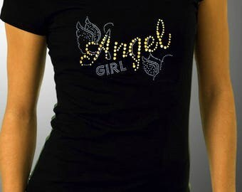 Angel Girl Rhinestone Tee