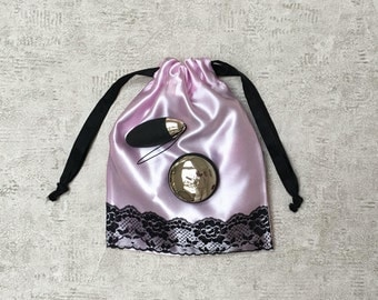 sexy smallbags pale pink and Black Lace - reusable bag - zero waste