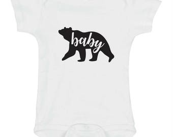Baby Bear Onesie, Bodysuit, Cute Baby Boy Clothes, Baby Bear Shirts, Trendy Baby Clothes, Newborn Baby Clothes, Unique Infant Bodysuit