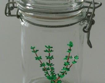 Spice jar - range Spice - jar for storing thyme