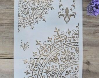 Mandala Stencil - Craft stencil - Scrapbooking stencil - Painting stencil - Wall stencil - DIY Decor Stencil - pattern MANDALA- (114-A)