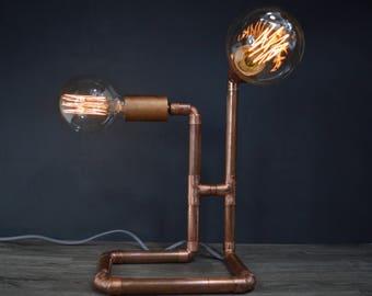 Twin Copper Pipe Lamp