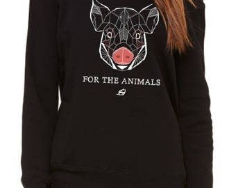 Vegan Sweatshirt - For The Animals Women Sweatshirt