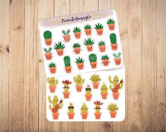 Cactus succulent stickers