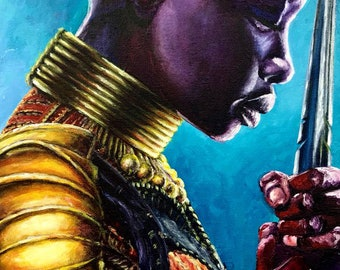 Black Panther Okoye - Painting - Print