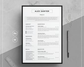 Resume Template/CV Template + Cover Letter |  Resume Template Word  | Modern Resume | Clean & Professional Resume | Instant Download
