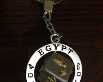 Egypt Die Cast Metal Keyring/Keychain
