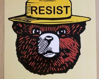 "Resist - ""Smokey the Bear"" Poster"
