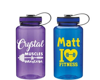 Fitness Water Bottle - I Love Fitness Tumbler - Gift for Personal Trainers - Gym Lover Gift - Fitness Gift - Cute Gym Bottle - Training Gift