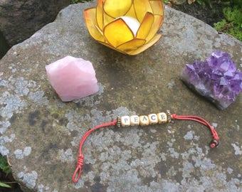 Bracelet, boho, hippie, peace