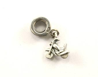 Vintage Bike Motorcycle Dangle Charm Sterling 925 CH 100