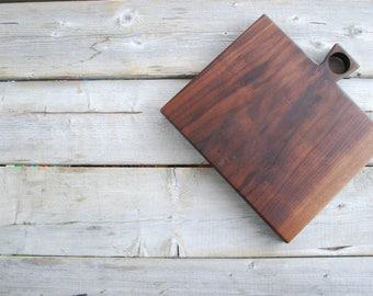 Black walnut bread board cutting board cheese and charcuterie serving board steak board sandwich board