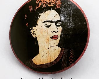 Frida Kahlo Artist Icon Pin Back Button