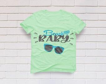 Beach Baby svg, Summer svg, Beach svg, Girl svg, Kids svg, Mom life svg, Boy svg, Sunglasses svg, Cricut, Cameo, Svg, DXF, Png, Pdf, Eps