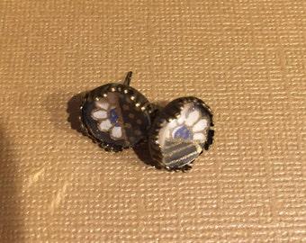 Antique Bronze Stud Earrings