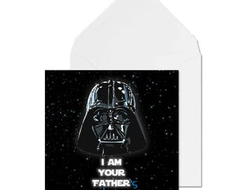 I AM YOUR FATHER's day card! // Fathers day Card //  Star wars card // Funny Card // Darth Vader