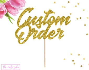 Custom Cake Topper, Wedding Cake Topper, Personalized Cake Topper, Baby Shower, Birthday Cake Topper, Custom Name Cake Topper, Name Cake Top