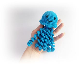 Blue Octopus crochet Cute Octopus Toy Stuffed octopus knitted amigurumi baby decoration Octopus jellyfish Crochet octopus