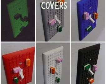 Lego Light Switch Cover Compatible Building Legos Home Decor Choose A Color  3D Printed   Made