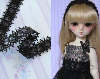 Black lace 25mm