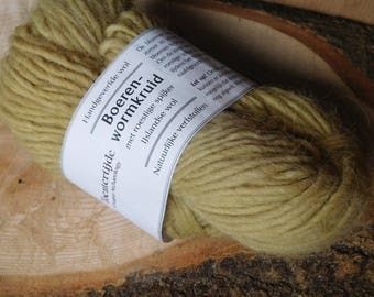 Hand dyed 100% Icelandic wool, tansy