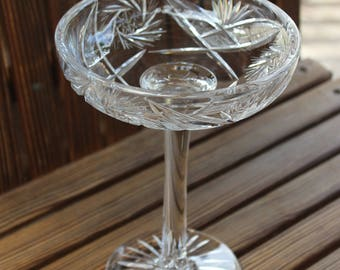 Cut Lead Crystal Compote