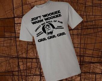 Men's Wookie Shirt Soft Wookie Warm Wookie Little Ball of Fur Men's Disney Shirt Men's Star Wars Shirt Disney Shirts