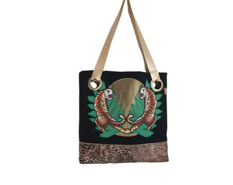 one123one Black Tiger Tote