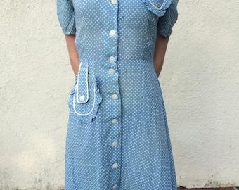 1930's Polka Dot Day Dress