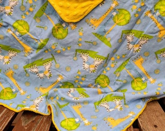 Animal Print Minky Blanket
