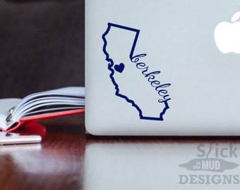 UC Berkeley Permanent & Custom State Vinyl Decal (Outline Style)