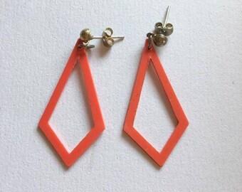 plastic vintage earrings